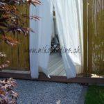 gravier de granit blanc bordure en granit du tessin et claustrats en bambou