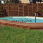 piscine bois avec terrasse et claustrat en bois exotique