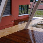 intégration terrasse bois exotique maison moderne