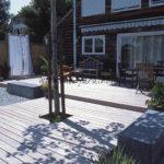 ombre d'un platane sur terrasse en ipé bois exotique