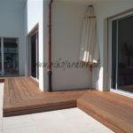 terrasse en bois le long façade détail coupe onglet