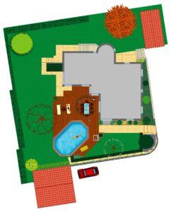 avant projet pour l'implantation d'une piscine à ossature bois à Pully (VD)