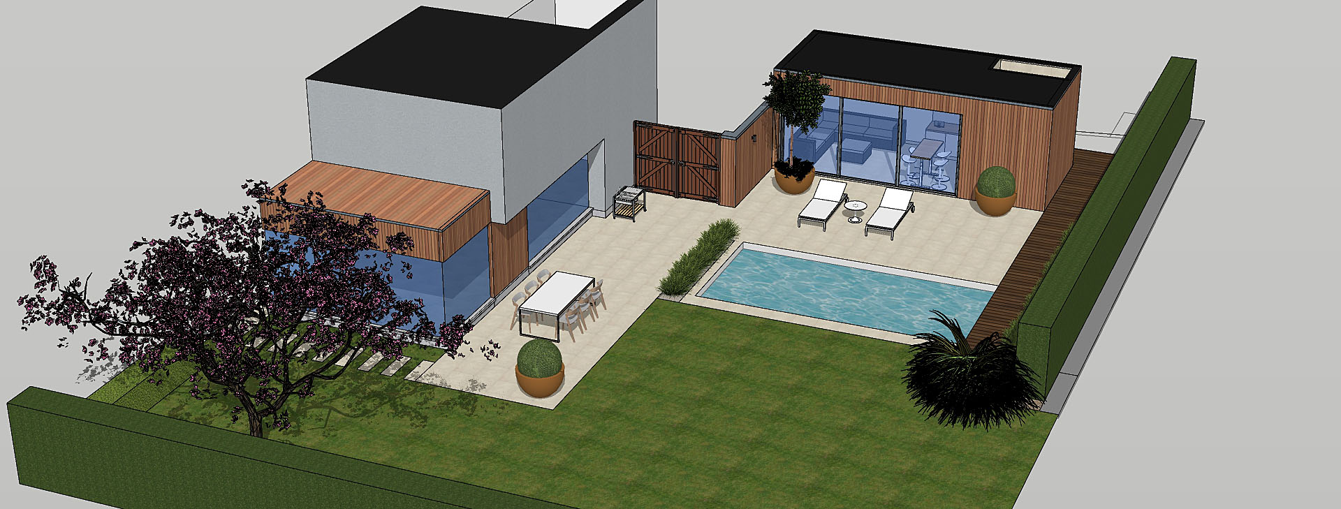 projet 3d petite piscine