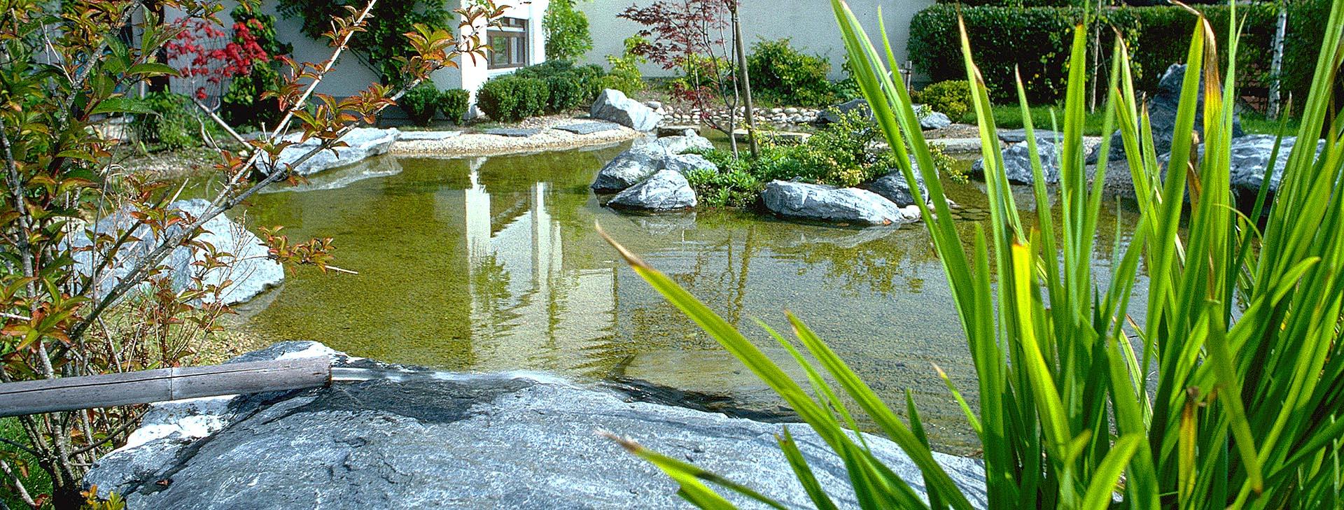 bassin miroir esprit zen création jardin japonais